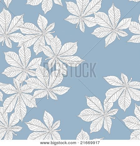 Chestnut leaves. Seamless pattern. Vector, eps8, easy editable.