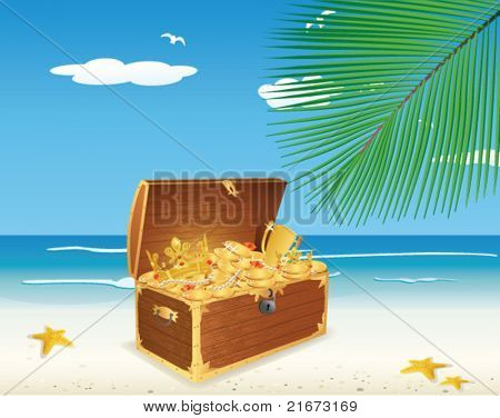 Treasure Chest on The Beach