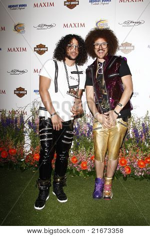 LOS ANGELES, CA - MAY 19: LMFAO arrives at the 11th annual Maxim Hot 100 Party at Paramount Studios on May 19, 2010 in Los Angeles, California