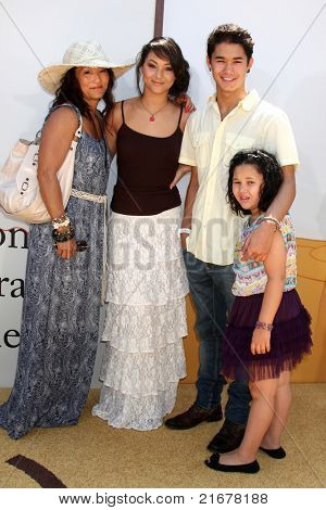 "LOS ANGELES - JUL 10:  Mom, Fivel Stewart, Boo Boo Stewart. Sister Sage Stewart arriving at the ""Winnie, the Pooh"" Premiere at Walt Disney Studios on July 10, 2011 in Burbank, CA"