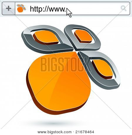 Business flower vector abstract signs represented in different usages.