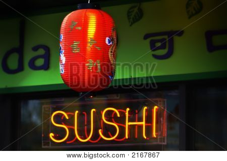 Sushi bar neon sign ooking culture