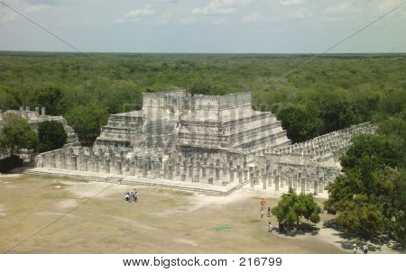 View Over Jungle Chichen Itza