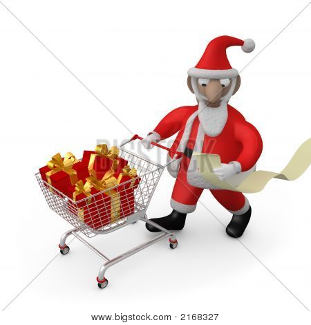 Santa Buying Presents