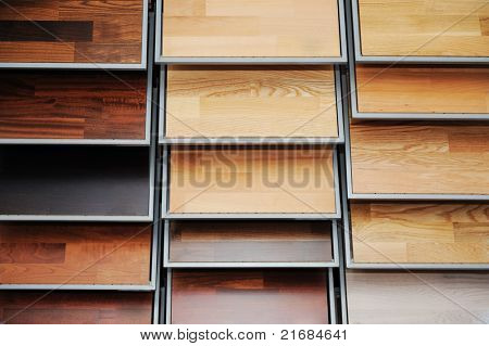 Top samples of various color palette - wooden floor