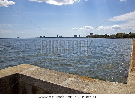 Skyline of Tampa Bay from Bayshore Drive