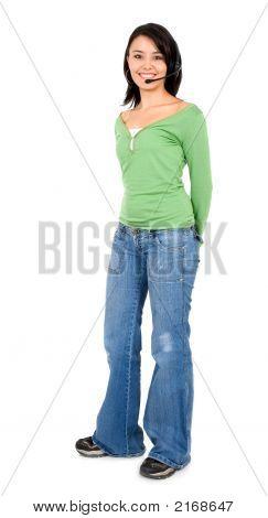 Help Center Girl Standing