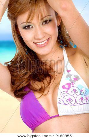 Strand Portrait Mädchen