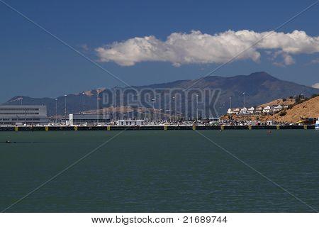 Wharf On Sunny Day