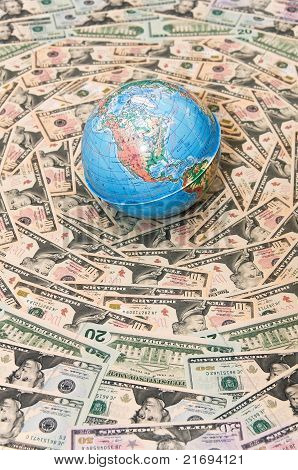 Globe in U.S. dollars.