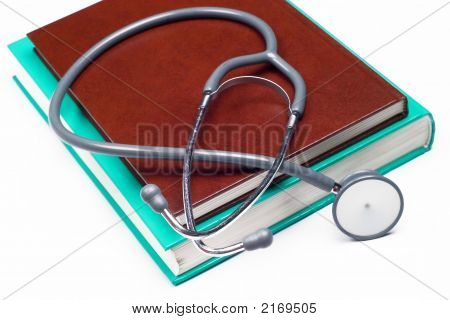 Stethoscope On A Medical Book