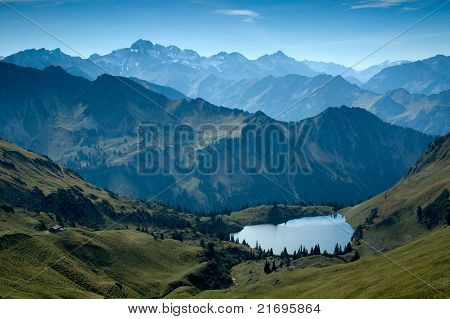 Lake In The Alp Of Oberstdorf
