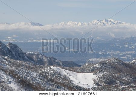 snow winter mountains