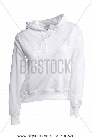 White Hooded Sweater