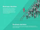 Business Decision Concept. Possibilities. Confident Businessman Selecting The Best Solution. poster