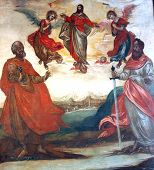 foto of apostolic  - Christ in heaven with apostolic leaders - JPG