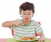 Постер, плакат: Здоровый ребенок ест