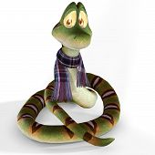 Cute Toon Snake #03 poster