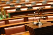 foto of courtroom  - Symbol of law and justice in the empty courtroom law and justice concept - JPG