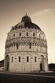 Pisa Piazza dei Miracoli with church dome in Italy poster