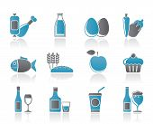 Food, drink and Aliments icons poster