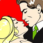 picture of pop art  - Couple in love  - JPG