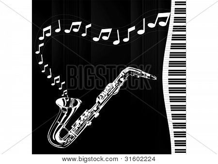sax melody and keyboard