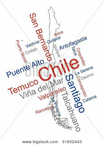 Chile Map And Cities