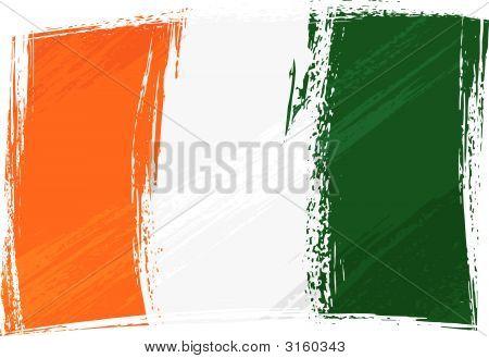 Grunge Cote D'Ivoire Flag