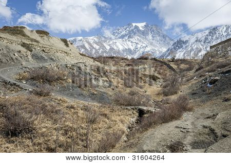 Valley In Himalaya Mountains