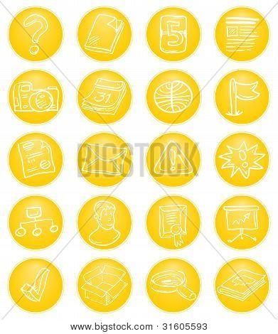 Yellow CMS icons
