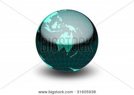 Glänzend grüne Welt