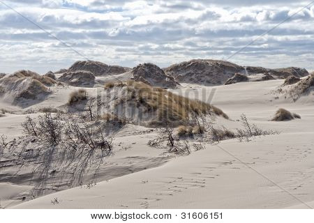 Clouds Over The Sand Dunes