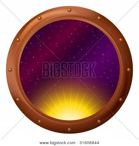 Sun and space in window