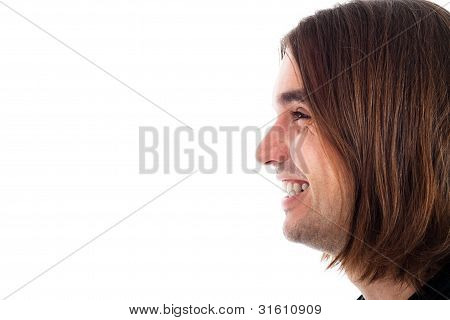 Profile Of Happy Man Face