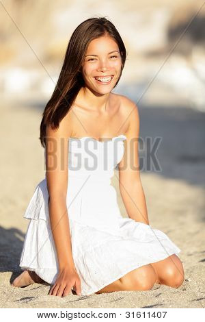 Happy Beach Woman