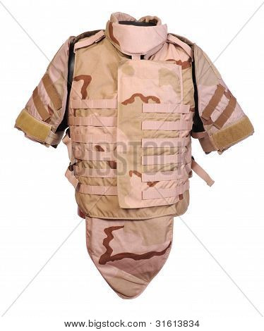 Desert interceptor body armour