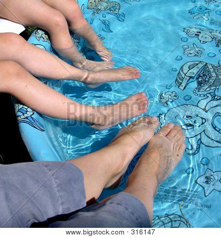 Feet In Pool
