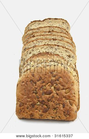 Seeded Bread - Sliced And Lined Up