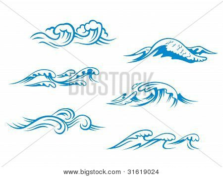 Blue Sea Waves