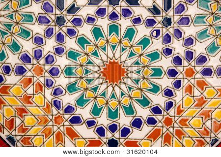 Ceramic Tile Pattern from Morocco