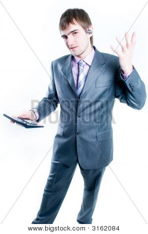 Businessman With Calculator