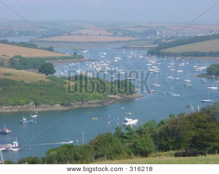 Views Of The Estuary,salcome, Devon, England.