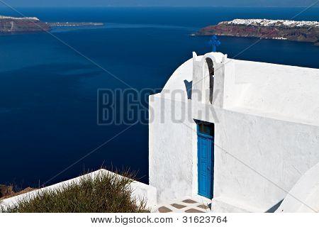 Church at Santorini island in Greece
