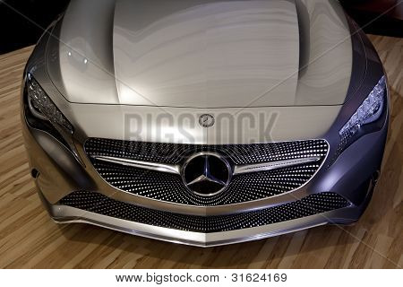 Bucharest Romania - April 8: Bucharest Auto Show (siamb), Mercedes Benz A Class Concept, Close-up