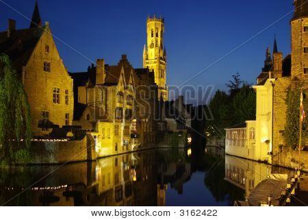 Rozenhoedkaai, One Of The Landmarks Of Bruges
