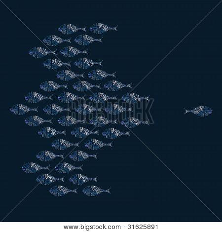 Fish concept illustration