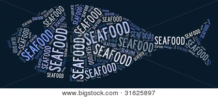 Seafood concept illustration