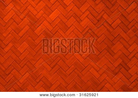 Texture of Light orange color paint weave wall for background
