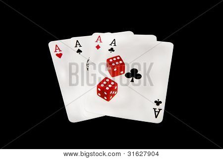Playing Cards And Dices
